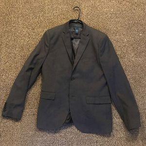 Perry Ellis Striped Gray Vest and Gray H&M Blazer